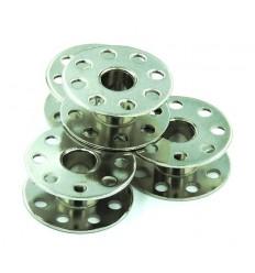 Шпулька металлическая с отверстиями для промышленных машин