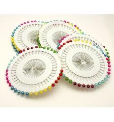 Булавки кравецькі кольорові з кулькою