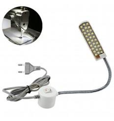 Cветильник 30 LED на гибкой стойке с вилкой