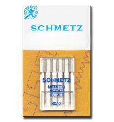 Голки Schmetz для вишивання металік №80