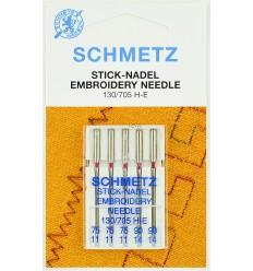 Иглы Schmetz вышивальные №75-90, набор