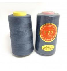 Нитки 777 40/2 цвет темный серый сизый (504)