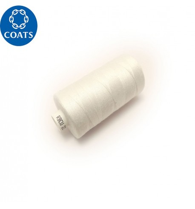 Нитки Coats Astra №120, 1000 m (1712) білий