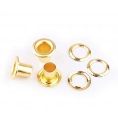 Блочка D-5 с кольцом, золото (100 шт)